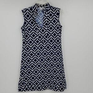 ⬇️JUDE CONNALLY blue and white mini dress